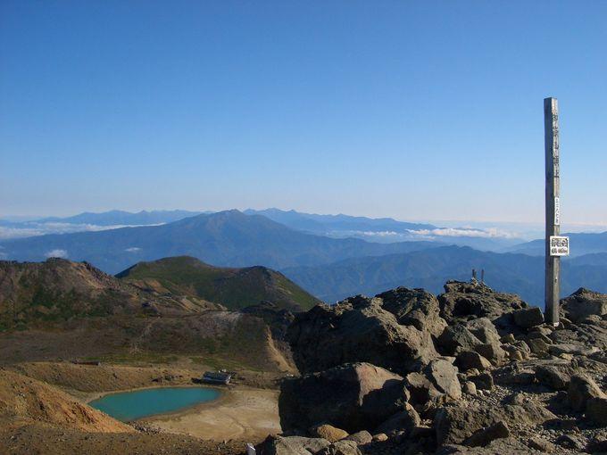 快晴の剣ヶ峰頂上と二の池