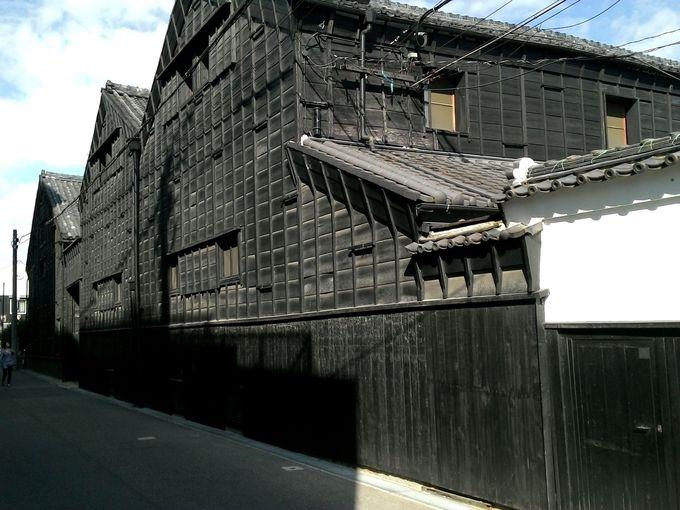 江戸から明治にかけての建物が見られる「酢の里」周辺