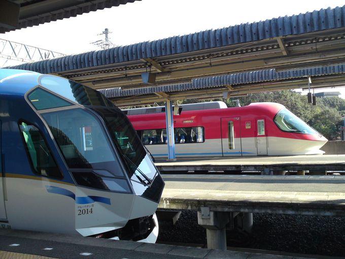 賢島駅は近鉄特急の車両基地のよう☆