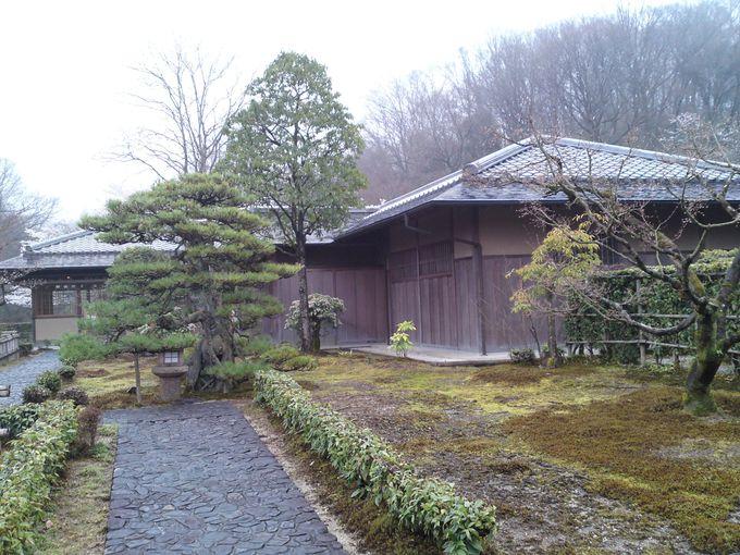 気軽にお抹茶を楽しめる茶室「織部庵」は、雨の日は特に趣深い雰囲気になります♪