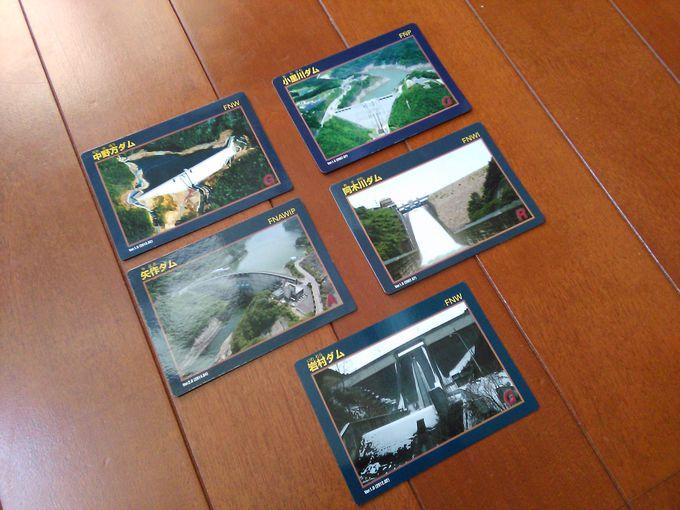 岐阜県恵那市内のダムをすべてまわると5つの「ダムカード」が集まります♪