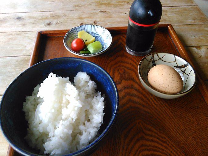 「名古屋コーチン」のたまごかけご飯との組み合わせがベスト
