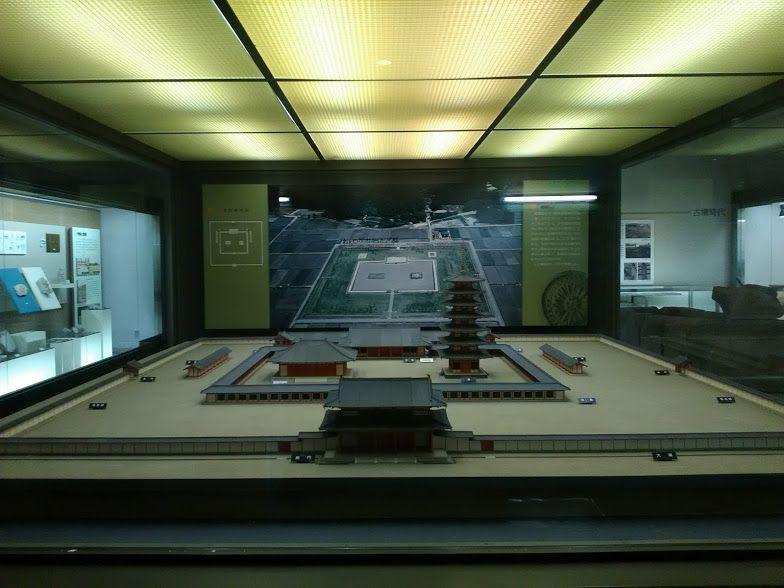 美濃国分寺のスケールに驚かされる復元模型