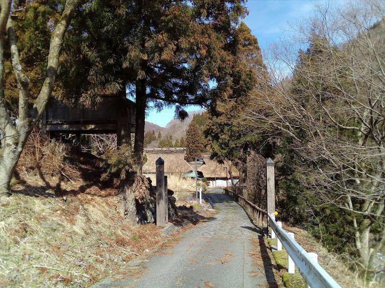 関所も設けられた北国街道「板取宿」の入り口