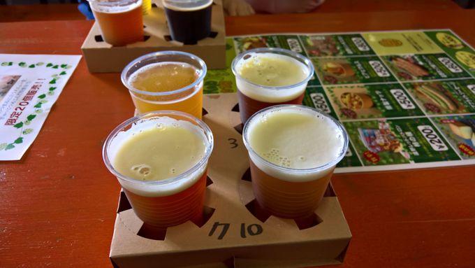 遠野産ホップを使ったビールは大人気