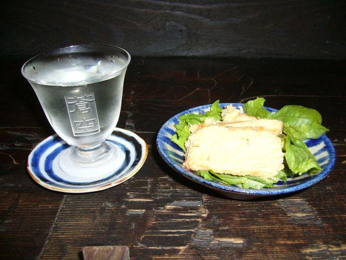 蔵元がこだわる手作りの純米酒「蒼空」を味わう