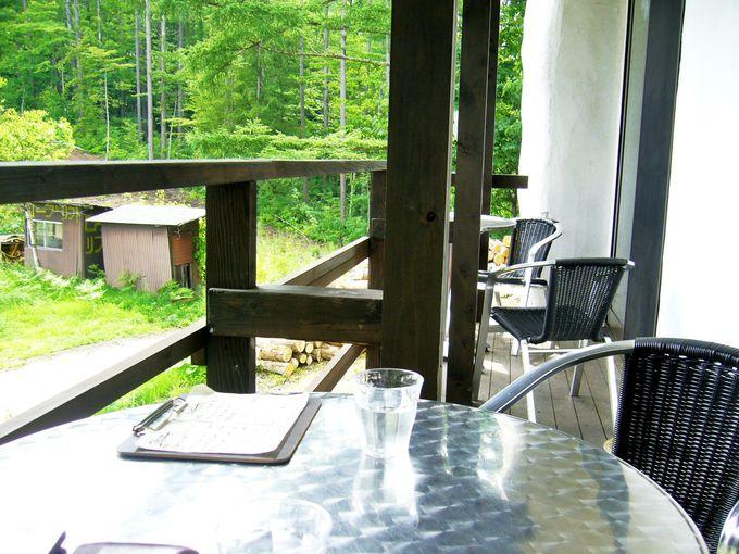 中山高原を眺めるベランダの特等席