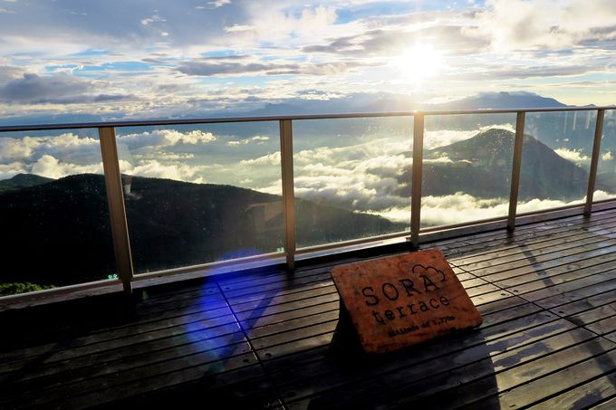 ふわりふわりと漂う雲が目の前に!「SORA terrace」は雲上の別天地