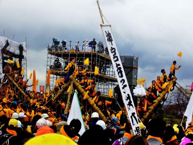 諏訪住民の情熱が一気に注がれる「御柱祭」
