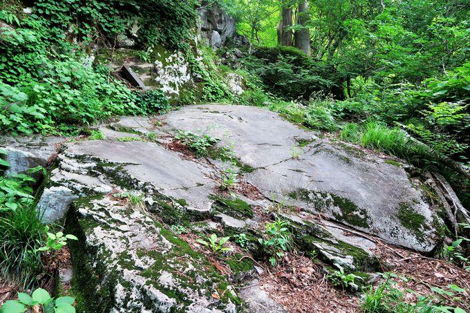 伝説とロマンに満ちた奇岩が連続する「小菅修験の道」
