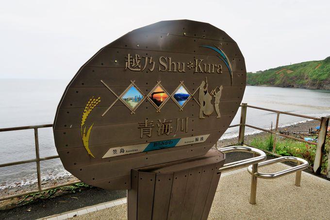 「越乃Shu*Kura」の停車駅にはオリジナルの駅名標が設置