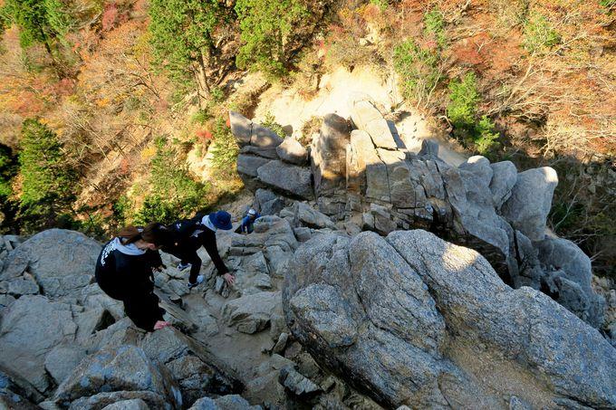 アスレチック登山の真骨頂「キレット」に「トラバース」