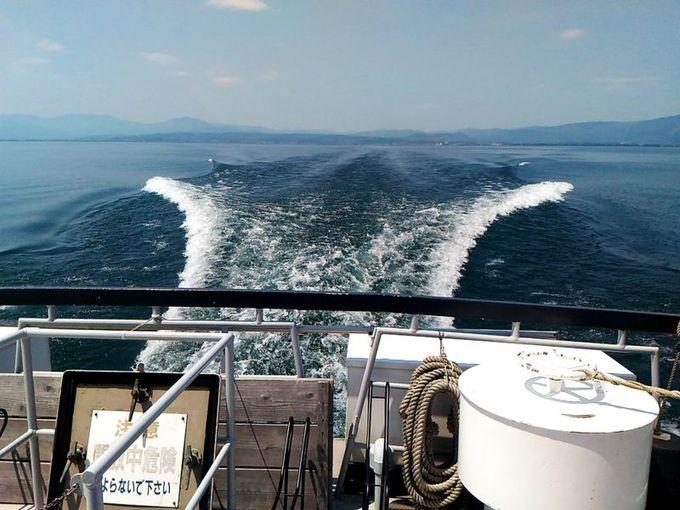 フェリーから眺める琵琶湖は海と錯覚するほど広い!