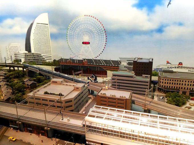 日本初の鉄道が開通した横浜を模したジオラマも見応え抜群