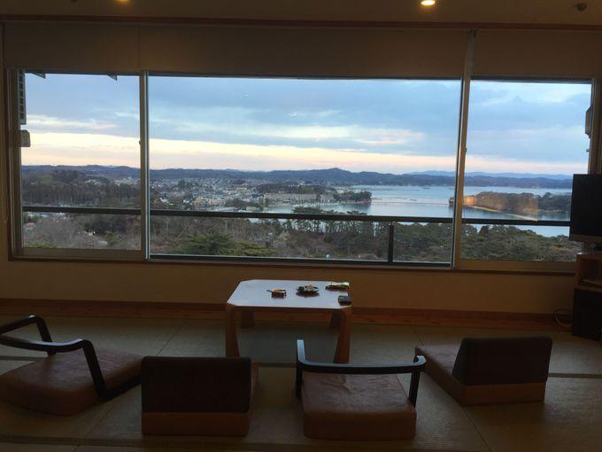 「ホテル松島大観荘」に泊まるなら、海側のお部屋が必須!