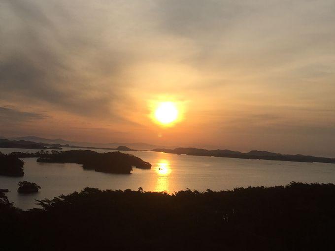 「ホテル松島大観荘」から見る朝焼けに感動!
