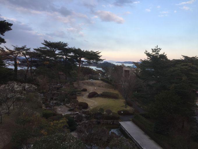 「ホテル松島大観荘」で松島の情景をしっかり目に焼きつけよう。
