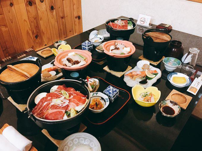 郷土の味覚たっぷり!大満足な「椿館」の夕食