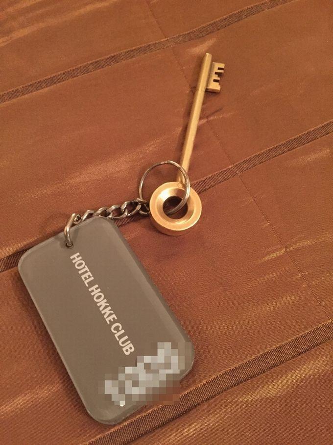 「ホテル法華クラブ仙台」のお部屋は、鍵と扉が珍しい!