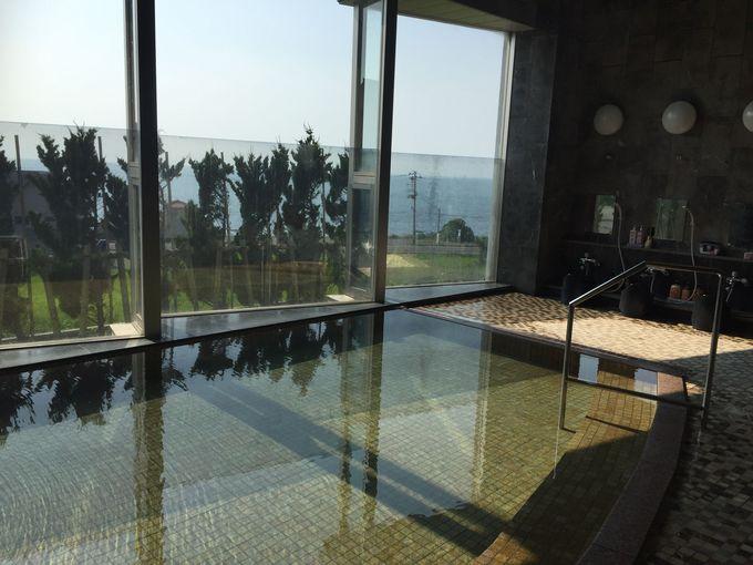 「ホテルサンリゾート庄内」の温泉は、海の恵みの自家源泉