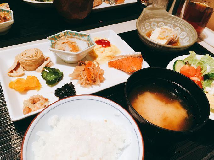 栃木の郷土料理も味わえる朝食バイキング