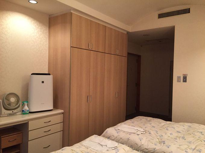 「ホテル小坂ゴールドパレス」はお部屋の設備が充実!