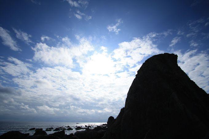 巨大な岩たちの並ぶ場所