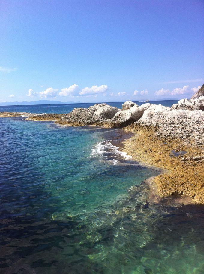 極楽浄土と言われるのも納得!透き通る美しい海!