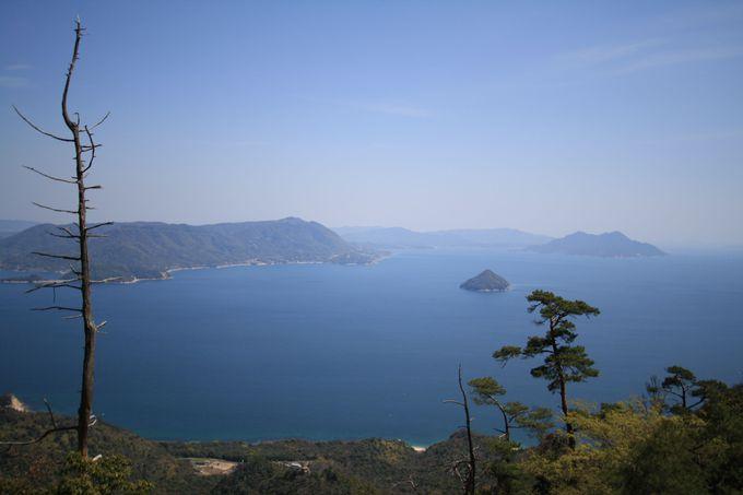 弥山から見る瀬戸内海は絶景の一言