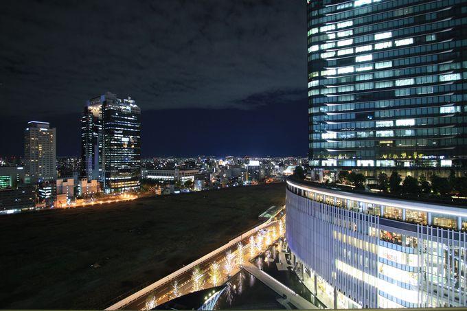JR大阪駅のホームからそのまま上がるだけの和らぎの庭