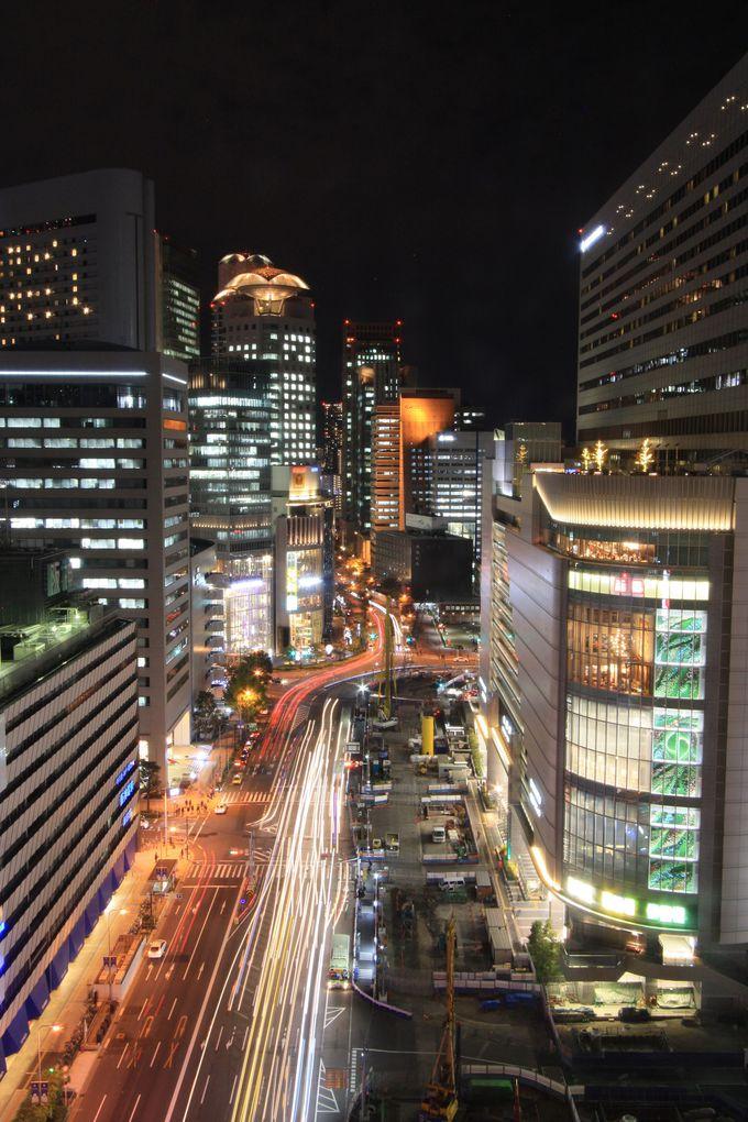 まずは梅田阪急ビルの15階から