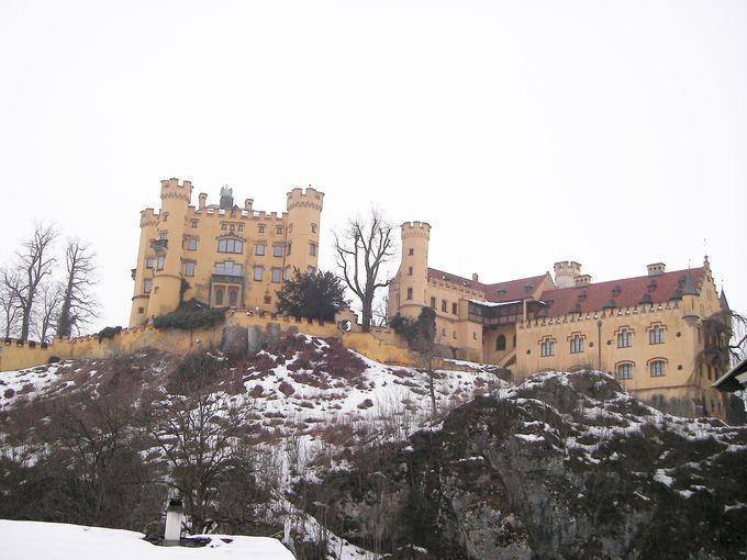 ルートヴィヒ2世が幼年期を過ごしたお城がこちら