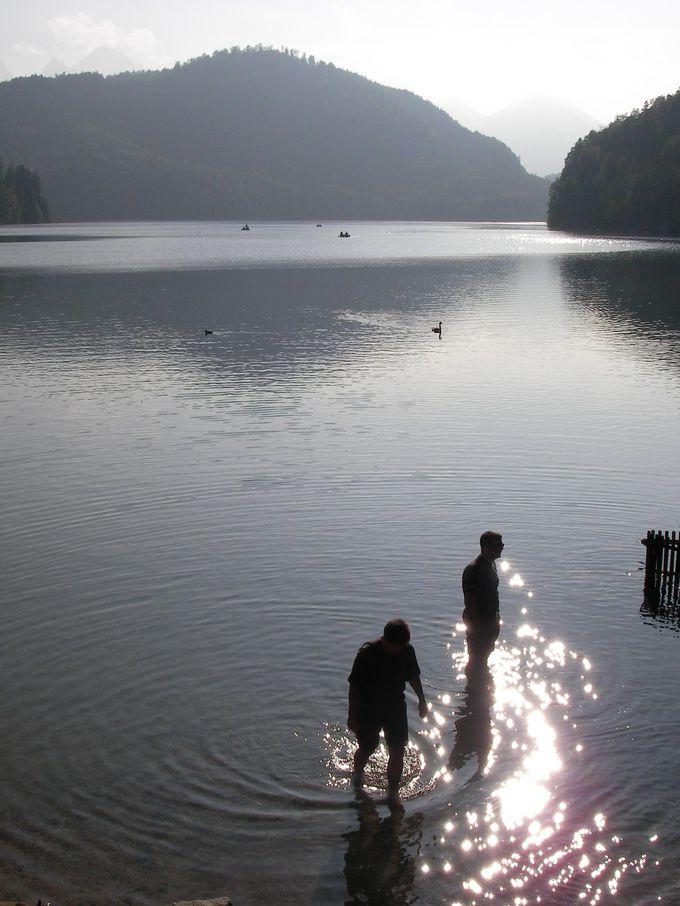 ホーエンシュヴァンガウ城のそばにはきれいな湖