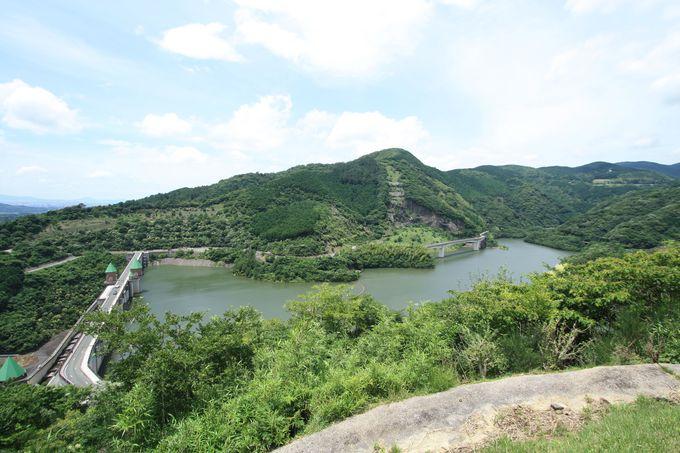 鳴淵ダムはいろいろなゾーンに分かれています