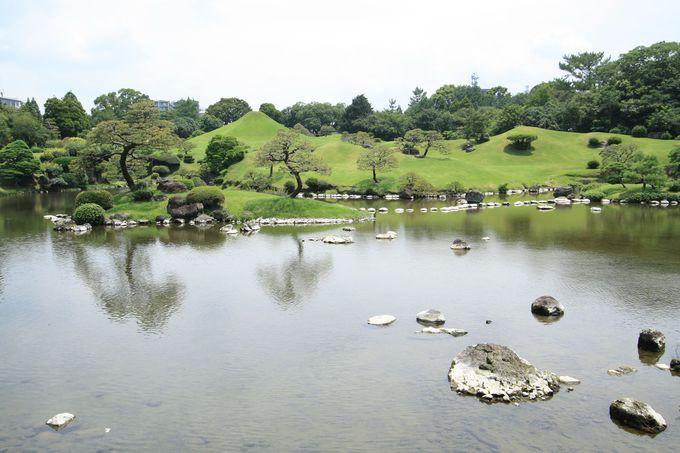 一度ほとんどなくなっていた水前寺成趣園の水ですが…