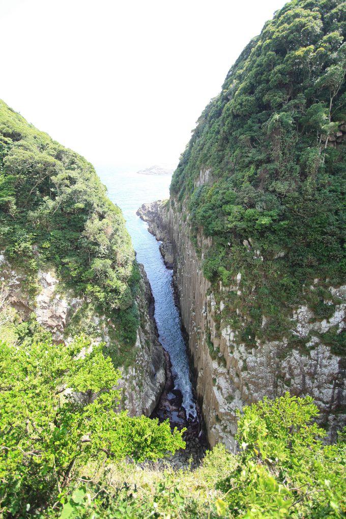 日向の断崖絶壁