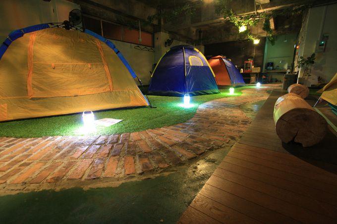 テント泊のゲストハウス?