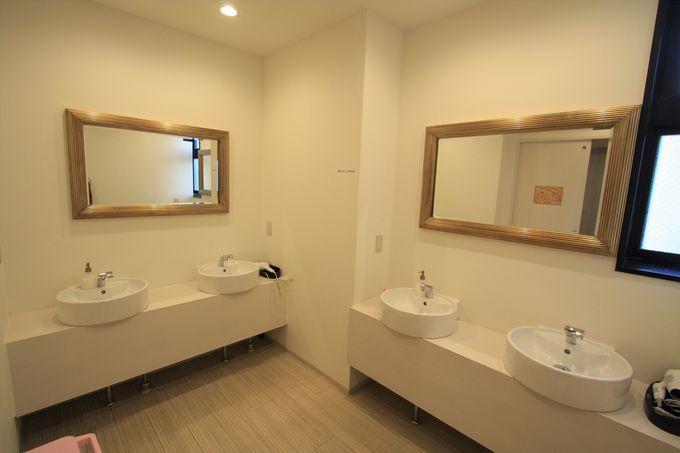 清潔な共用スペース、自由に使えるテラスも