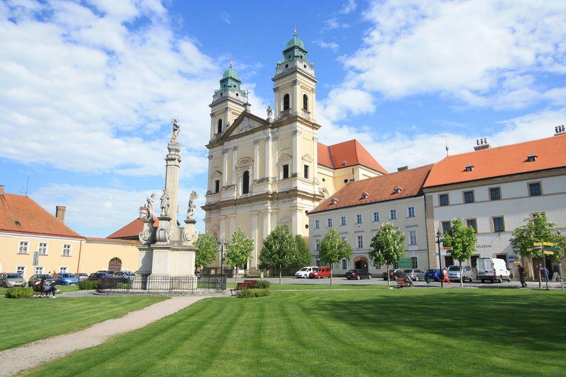 美しい町の広場