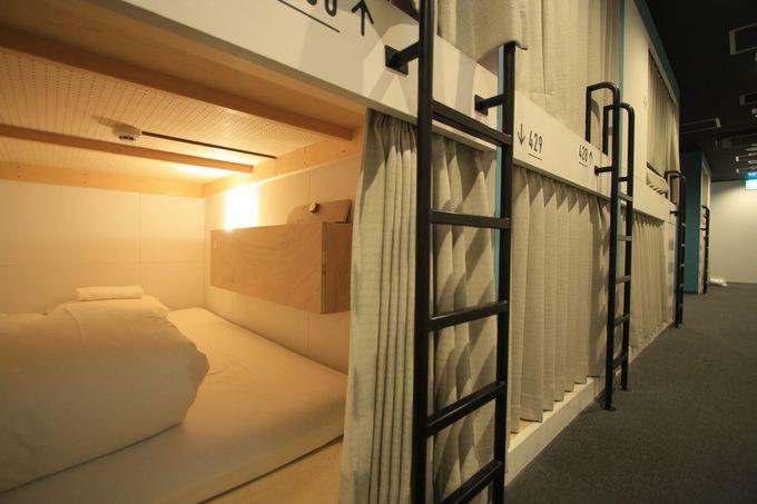 部屋は個室と2段ベッドタイプ