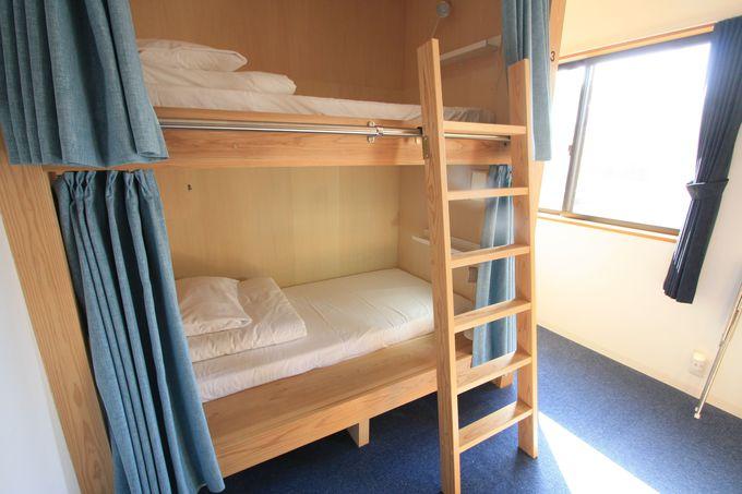 宿泊部屋は2階に