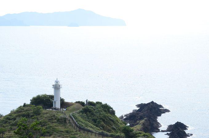 那久岬からは他の島影が