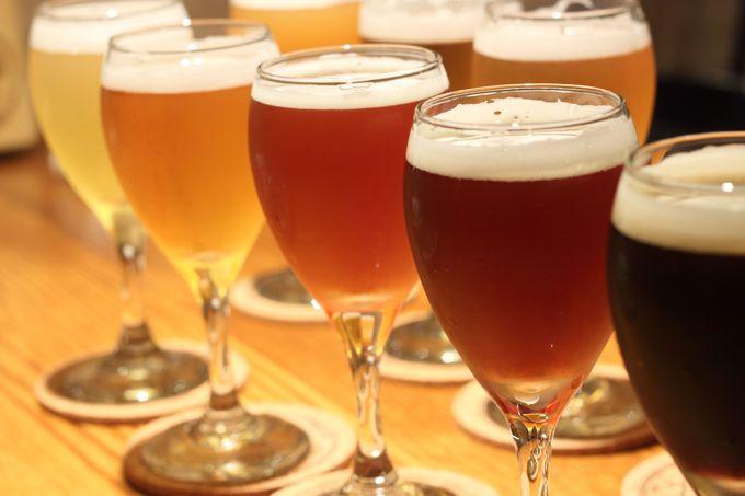 まずはクラフトビール飲み比べ