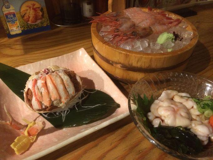 食べる:セイコガニや甘えびなど新鮮海の幸