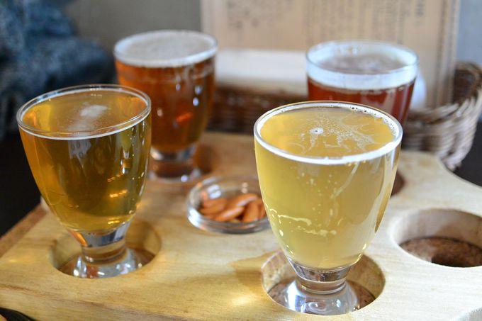 タイムスリップしたような空間で味わう4種のクラフトビール