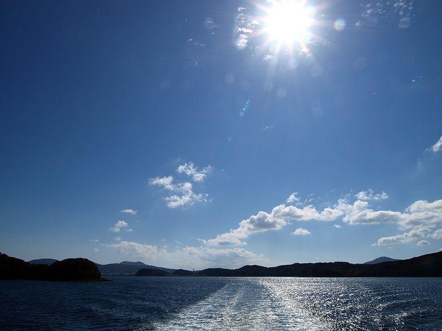 「久賀島」へのアクセスは福江島からのフェリーと高速船が基本。