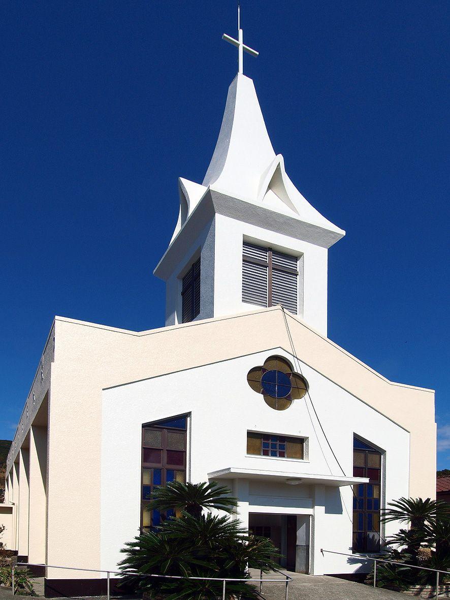 「奈留島」南部にあるカトリック信仰の中心的な存在「奈留教会」