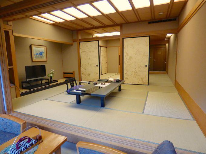 部屋のタイプは和室中心、狭い部屋でも12畳というゆとりが、快適さとくつろぎを演出