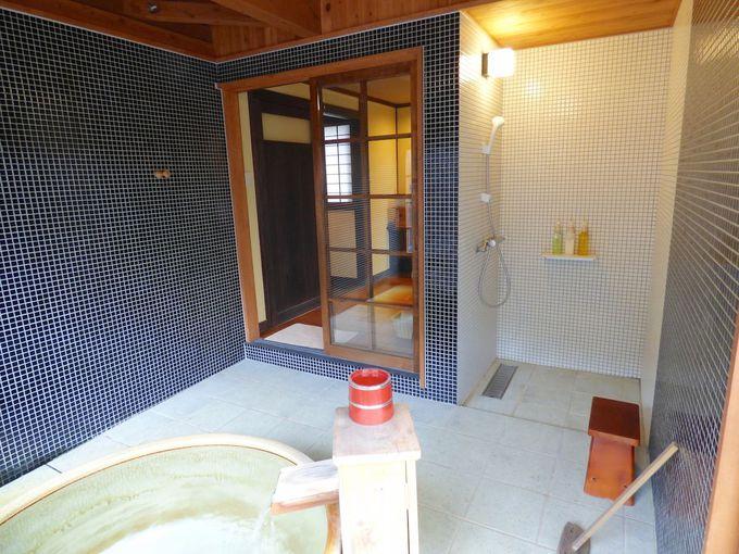 お風呂スペースのシャワーブースも開放的