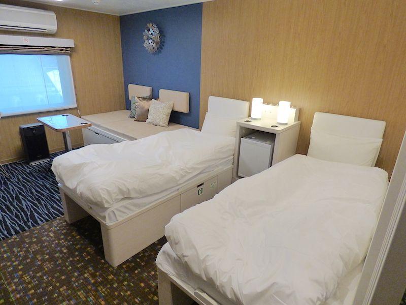 船室は最新の設備が整い、出来たてのホテルのよう!